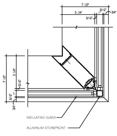 kawneer curtain wall corner detail revitcity outside corner mullion