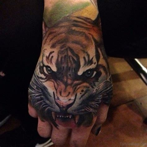 62 Mind Blowing Tiger Tattoo On Hand
