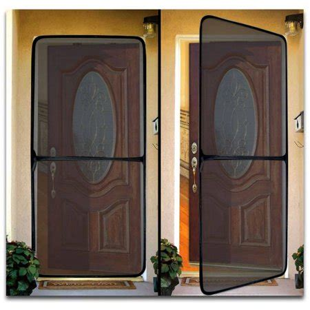 temporary screen door instant screen door for home and office black walmart