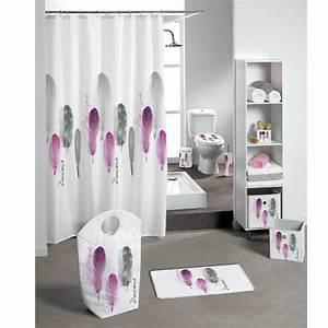 Rideau De Douche : rideau de douche po tique rose rideau de douche eminza ~ Voncanada.com Idées de Décoration