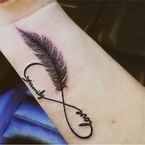 Tatouage Plume Poignet : tatouage infini plume poignet femme ~ Melissatoandfro.com Idées de Décoration