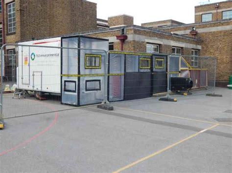 white asbestos removal basildon school building