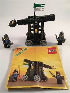 Rare Lego Castle Black Falcons Set 6030 Catapult With