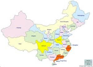 Carte Villes Chine Provinces