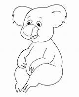 Koala Coloring Pages Printable Template Bear Baby Getcoloringpages Bestcoloringpagesforkids sketch template