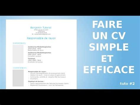 Comment Faire Cv by Comment Faire Un Cv Styl 233 Avec Open Office