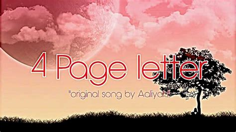 4 page letter lyrics aaliyah 4 page letter cover lyrics 50114
