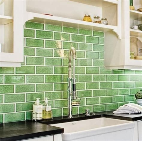 25+ Best Ideas About Green Subway Tile On Pinterest