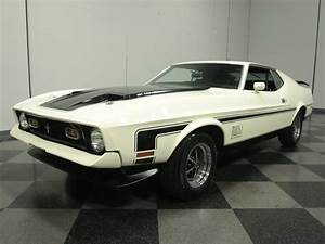 White 1972 Ford Mustang Mach 1 For Sale | MCG Marketplace