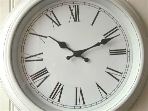 Shabby Chic Large White Wall Clock ? Amazing Grace Interiors