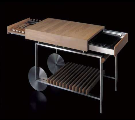 grills  gunni movable kitchen island  compact barbeque  great  small spaces