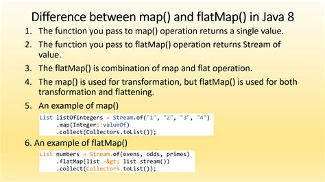 difference  map  flatmap  java  stream