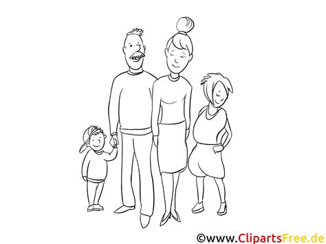 Familie Malvorlage Gratis