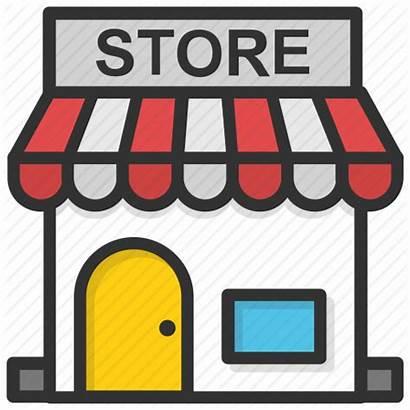 Icon Retail Shopping Market Negozio Stores Icons