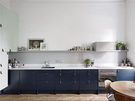 blue kitchen storage ideas to decorate scandinavian kitchen design 1740