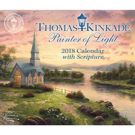 thomas kinkade desk calendar 2018 thomas kinkade painter of light with scripture 2018 desk