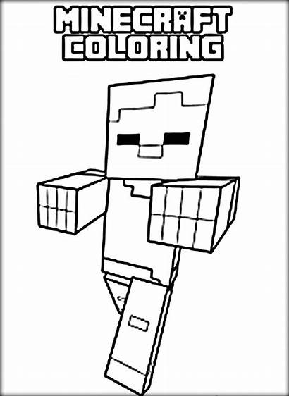 Minecraft Coloring Pages Zombie Spider Printable Alex