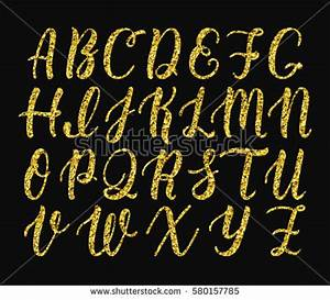 cursive letters stock images royalty free images With gold cursive letters