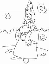 Wizard Coloring Wand Magic Pages Clipart Oz Merman Printable Getdrawings Library Getcolorings Books sketch template