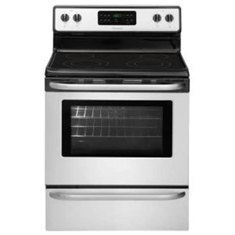 kitchen sinks lowes frigidaire 5 4 cu ft electric range with self cleaning 3024
