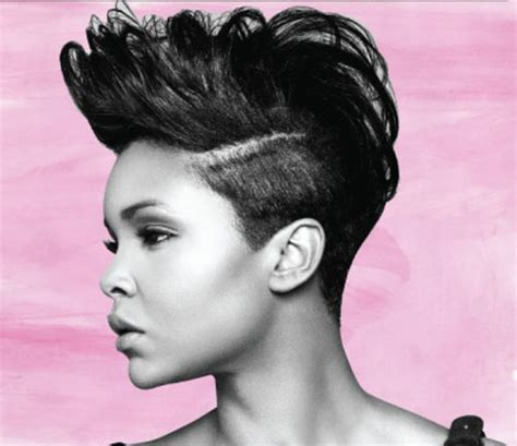 Black Short Hairstyle With Long Bangs