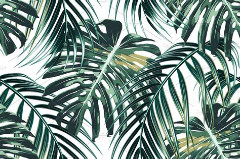 jungle leaves vector pattern graphic patterns creative