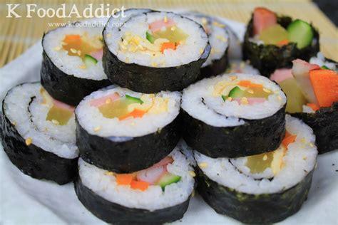 korean kimbap kimbap korean sushi korean food kfood addict
