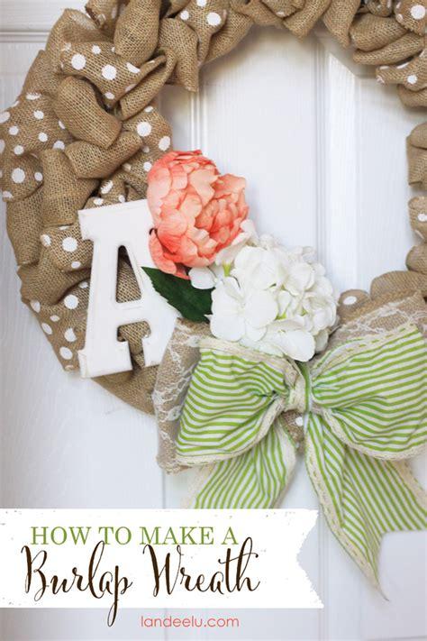 How To Make A Burlap Wreath {landeelucom}