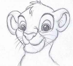 disney sketch - simba, the lion king | Art by Anna Helena ...