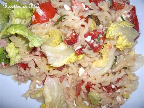 Salade De Pates Thon Mais by Salade De Pates Feta Thon Basilic Recettes En
