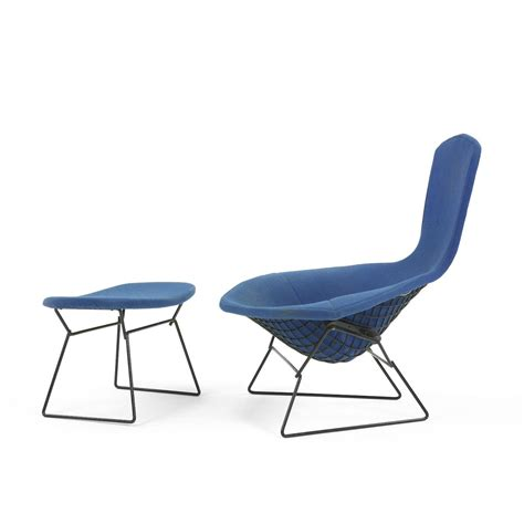 harry bertoia bird chair and ottoman
