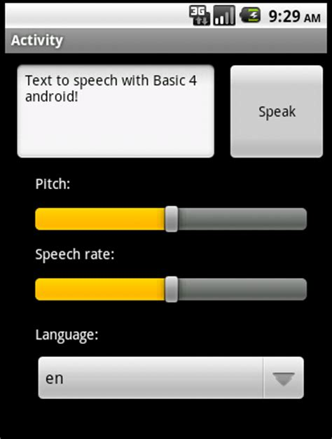 voice texting for android tutorial android text to speech exle basic4android