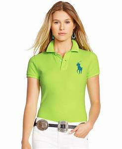 Polo ralph lauren Skinny-fit Big Pony Polo Shirt in Green ...