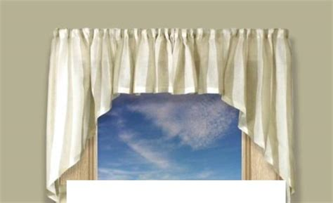 Coastal Stripe Swag Curtains Available In 4 Colors
