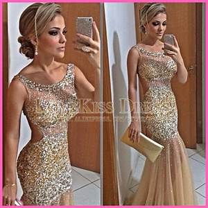 aliexpresscom buy gold prom long dress sexy mermaid With chanel robe de soirée