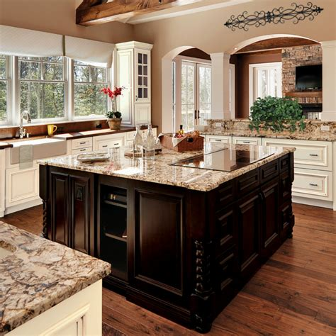 kitchen island design with cooktop islands the of the kitchen wellborn cabinet Kitchen Island Design With Cooktop