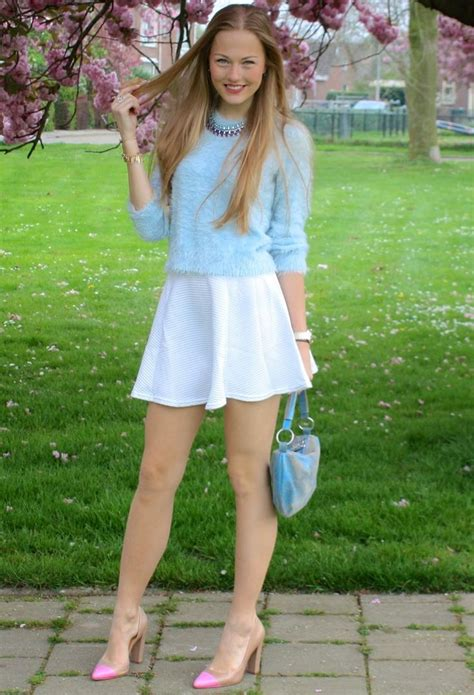 I Was Wearing Sweater Topshop Skirt Handm Another White Skirt Heels Diy Nude And Silver
