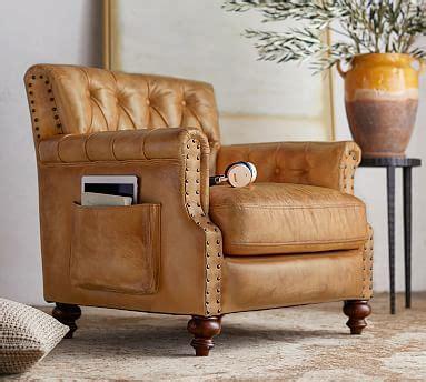 colton leather armchair pottery barn