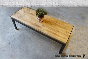 vintage industrial rectangular coffee table With retro industrial coffee table