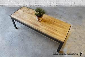 vintage industrial rectangular coffee table With vintage industrial coffee tables