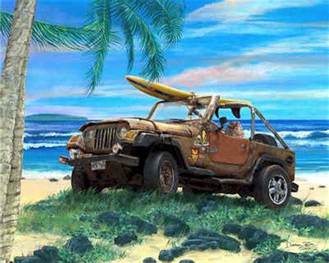 jeep surf jeep wrangler 4x4 tj sport auto automobile art print