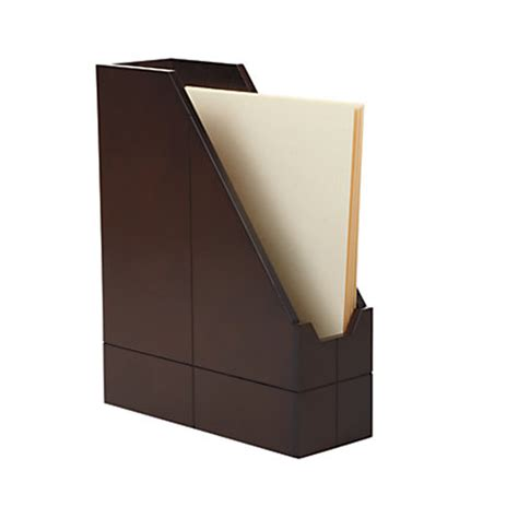 Realspace Wood Collection Magazine Holder Brown By Office
