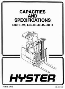 Hyster Electric Forklift Truck Type Z943  E30fr  E30fr