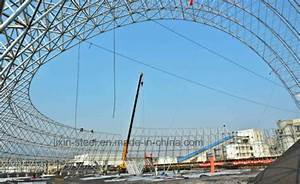 China Light Weight Steel Space Roof Truss Metal Roof ...