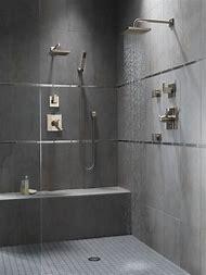 Slate Tile Floor Bathroom and Shower