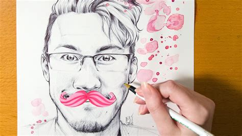 speed drawing youtubers markiplier ballpoint