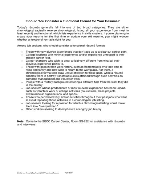 Unrelated Work History On Resume by Functional Resume Template Sle Free