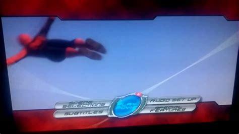 spider man  main menu dvd disc  youtube