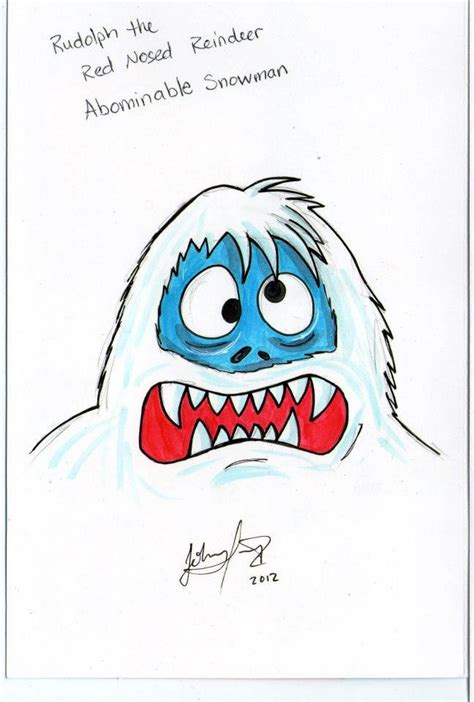 how to draw the rudolph abominable snowman the abominable snowman card by johnnyism on deviantart