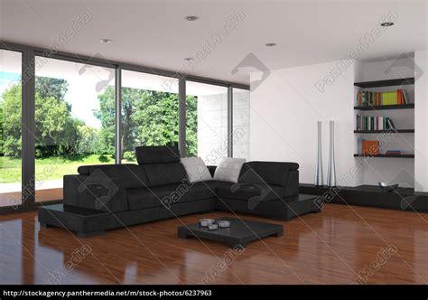 Moderne Wohnzimmer Mit Parkettboden  Stockfoto #6237963